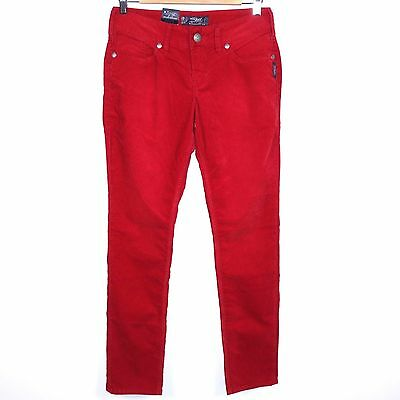 Silver Jeans Suki Skinny Stretch Corduroy Pants Women's 28 x 31 Red Trousers