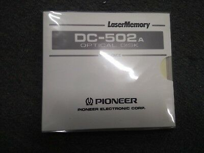 "Pioneer 5.25"" WORM 654MB (DC-502A) OPTICAL DISK NEW"