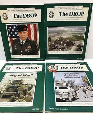 Special Forces Assoc Magazine The Drop Green Berets 2008 4 Quarterly Issues