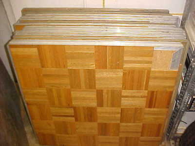 Portable Dance Floor Wooden oak style Panel 3ft by 3ft squares 45 pieces as lot
