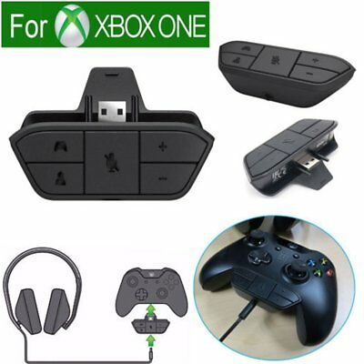 1x Microsoft Xbox One Controller for Stereo Headset Audio Headphone Adapter BU