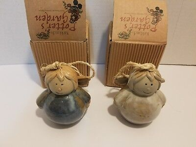 Lot of 2 KIRKLAND'S POTTER'S GARDEN ANGEL CHRISTMAS ORNAMENT NEW