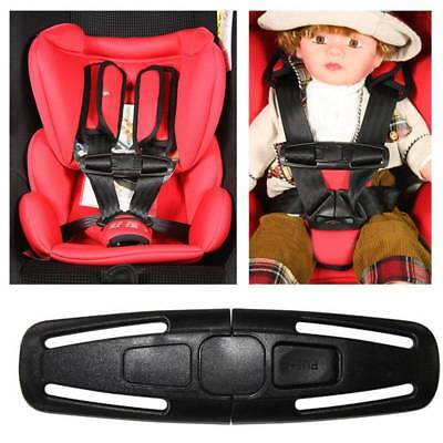 Baby Car Safety Seat Belt Lock Buckle Latch Harness Chest Child Clip Knots Black
