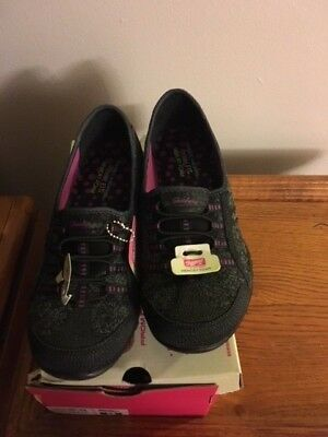Skechers Knit Bungee Slip-Ons Save The Day Black Size 9