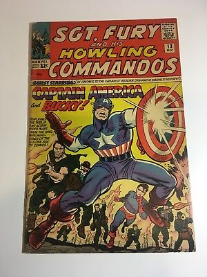 Sgt. Fury And His Howling Commandos #13 Fn 6.0-6.5 Marvel Cgc/cbcs/pgx It