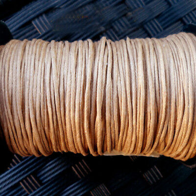 5m wire Cotton Waxed CAMEL (LIGHT BROWN) - Thickness 1 mm