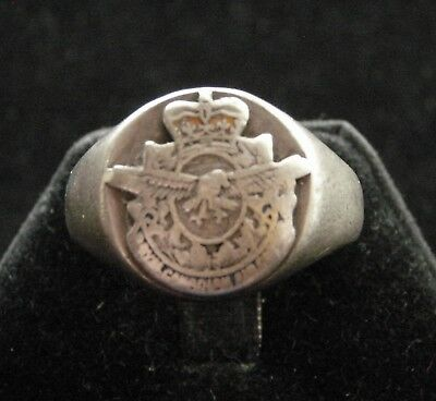 Vintage WWII Royal Canadian Air Force Sterling Ring