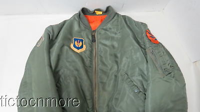 Us Ma-1 Thick Winter Flight Bomber Jacket Usaf Flighter Weapons School Graduate