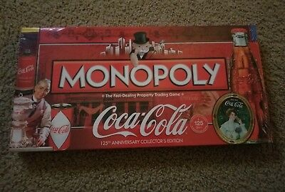 NEW Coca Cola Monopoly Game ~ 125th Anniversary Edition Factory Sealed