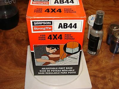 New Simpson Strong-Tie Adjustable 4 X 4 Post Base Ab44 Usa Made