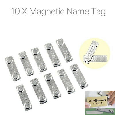 10 X Strong Magnetic Name Tag Badge Fastener ID Holder Card Magnet Self Adhesive