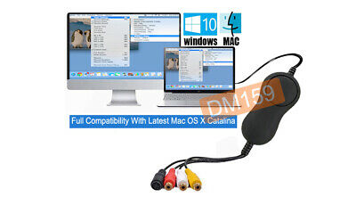 Premium USB 2.0 Video Grabber - DVR Adapter For PC Windows And Mac OS