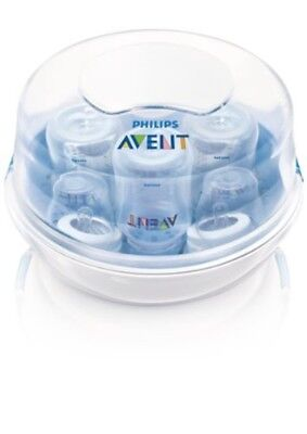 Philips AVENT Microwave Steam Sterilizer Infant Baby Bottle Clean Sanitize Fast