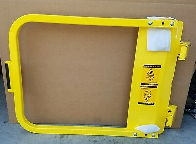 PS DOORS LSG-30-PCY LADDER SAFETY GATE - 28-3/4 to 32-1/2 IN - Yellow - Steel