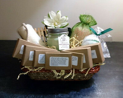 Ultimate Organic Luxurious Spa & Bath Gift Basket Herbal & Floral Scents