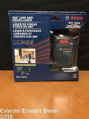 Bosch GLL 2-20 S 360 Line and Cross Laser 65ft