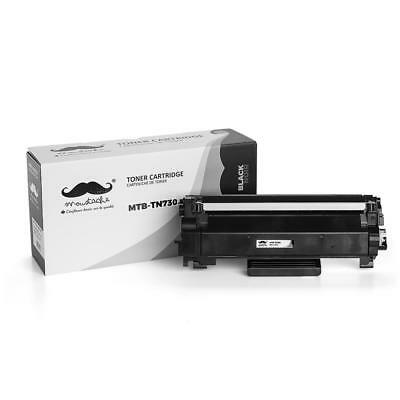 TN730 Black Toner Cartridge With Chip For Brother DCP-L2550DW HL-L2370DW L2390DW