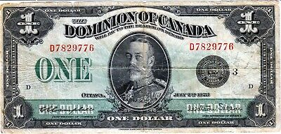 One dollar 1923 Canada  - Campbell Sellar  - Black seal  - Groupe 3  - Serie D