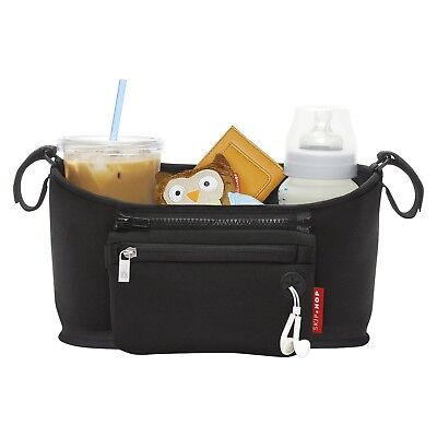 Skip Hop Grab and Go Attachable Stroller Organizer and Cup Holder, Black