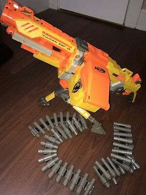 NERF Vulcan EBF-25 Machine Gun w/ Tripod & Two Dart Chains FREE SHIPPING