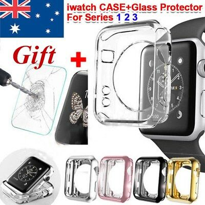 Full Cover TPU Case For Apple Watch Series 3/2/1+ iWatch Screen Protector Slim