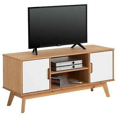tv lowboard fernsehtisch fernsehschrank skandinavisches design retro massiv wei eur 199 99. Black Bedroom Furniture Sets. Home Design Ideas