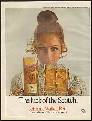 Johnnie Walker Red Vintage Ad McCall's Magazine 1970 (111811)