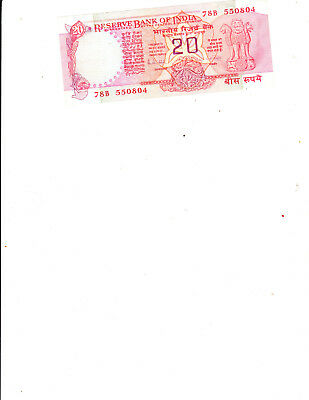 A 20 Rupee banknote from India