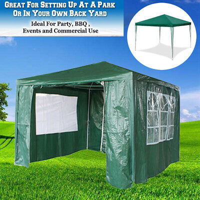 Outdoor Canopy Party Tent White Gazebo Pavilion Garden Gazebo with 4 Sides Wall