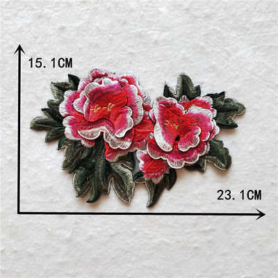 peony flower clothing embroidery neckline decorate applique YL962