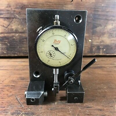 """Vintage Watch & Clockmaker's Concentricity Gauge W/ Baty .0005"""" Dial Indicator"""