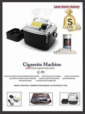 Electric Cigarette Rolling Machine. Super Easy to use, USA Seller!