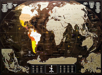 World Map Creative Deluxe Travel Luxury Maps In The Tube Chocolate Edition+Gift