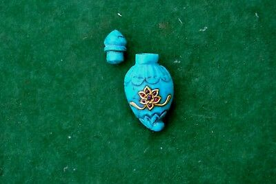 Ottoman mughal Turquoise Ruby gold studded perfume mango bottle qing dynasty
