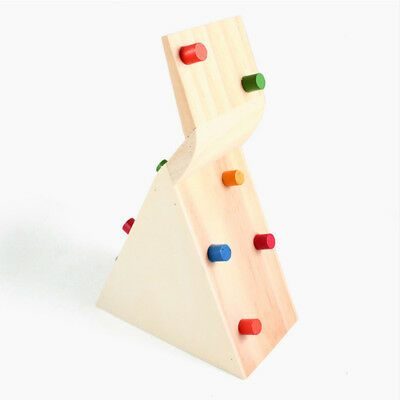 For Hamster Rat Mouse Mice Pet Toy Wooden Seesaw Cage Climbing House Durable