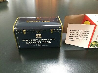 Vintage Money Box Bank Of New South Wales