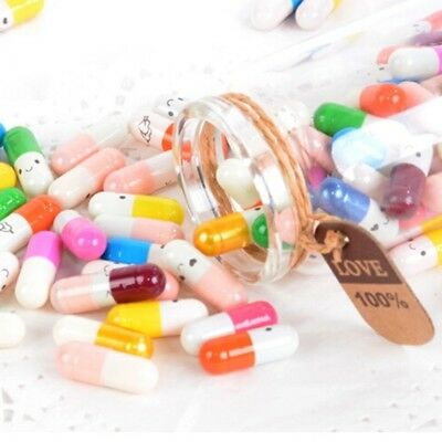 50Pcs Drift Wishing Capsules Pills With Paper Party Birthday Funny Game Props