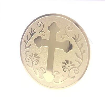 Commemorative Coin Collection Cross Jesus God Golden Christ Troy Ounce Medals