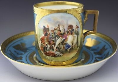 Napoleon Portrait Tea Cup & Saucer Crown over N Mark NO RESERVE Lot 60 of 90