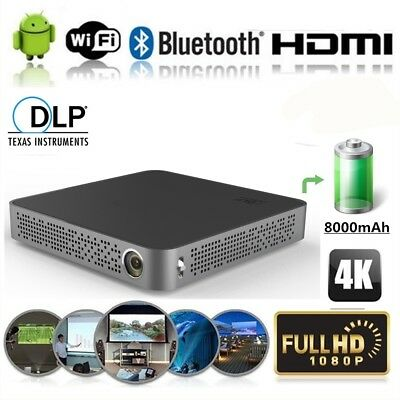 Mini Portable 5500 Lumens HD 4K Android Wifi DLP Home Theater Projecteur 2018