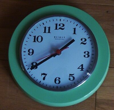 GERMAN RETRO WALL CLOCK - WEIMAR- QUARTZ - MADE IN DDR.EAST GERMANY 1970s/80s