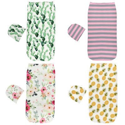 Newborn Infant Baby Boy Girl Swaddle anti-shock Sleeping Bag Wrap cap set 9bT6