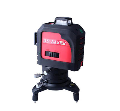 Green Laser Level 3D Self Leveling 12 Lines 360° Rotary Cross Measuring Tool