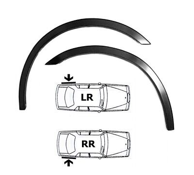 FORD FOCUS Mk2 New Custom Wing Wheel Arch Trim REAR Set 2 pcs. MATT BLACK '04-08