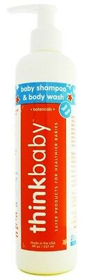 ThinkBaby Baby Shampoo and Body Wash for Kids and Toddlers - 8oz (237ml) - Eco-f