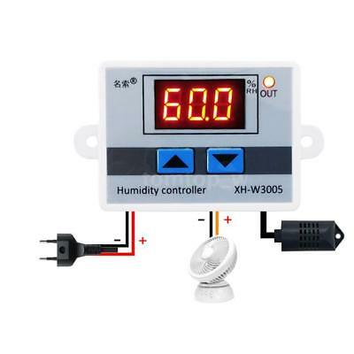 W3005 DC 12/24V AC 220V LED Digital Humidity Controller Hygrometer Switch Sensor