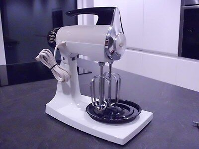 Vintage SUNBEAM Mixmaster ELECTRIC FOOD MIXER White, Full working order, Mint.