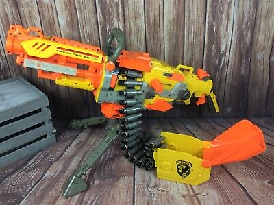 NERF HAVOK FIRE EBF-25 N-STRIKE HAVOC EBF25 GUN + AMMO BELT automatic. Free post