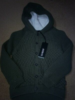 BNWT Jacob & Co Thick Boys Hooded Winter Cardigan Size 5