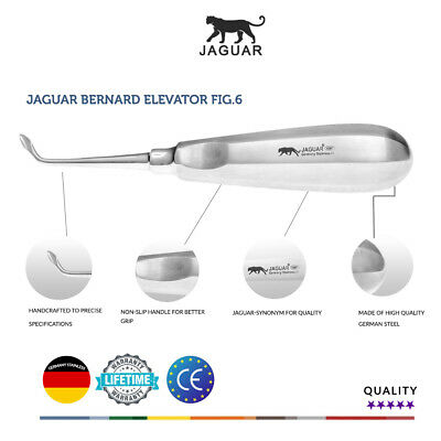 Jaguar Bernard Fig.6 Surgical Elevator Germany Stainless CE Competitor price £25